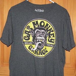 Men's Large Short Sleeve T-Shirt Gas Monkey Garage